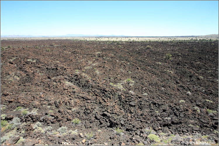 Lava Beds National Monument的熔岩床